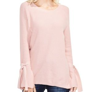 Two By Vince Camuto Textured Tie-sleeve Sweater M